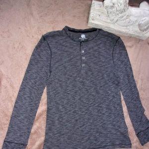 woman  rock republic  long sleeve shirt top gray